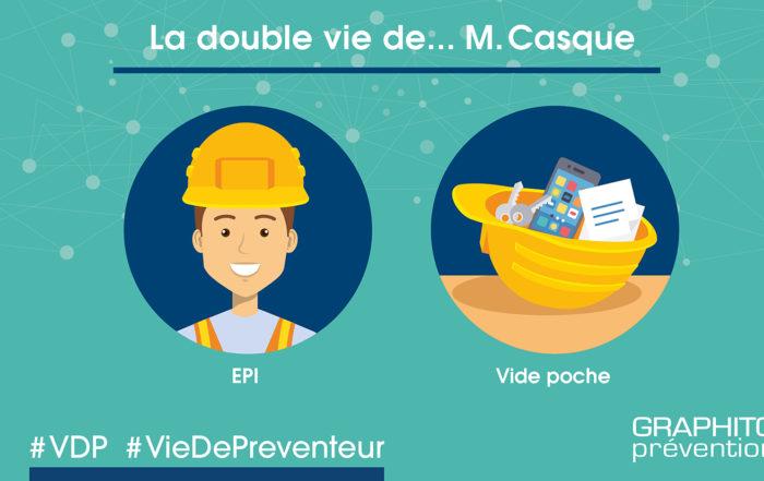 VDP illustrée, la double vie de M.Casque, soit un EPI soit un vide poche