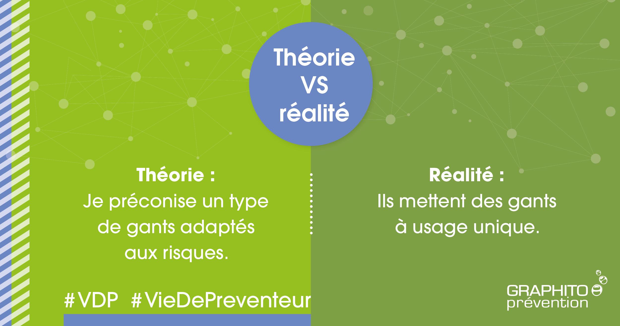 VDP théorie VS Réalité sur la thématique des gants.