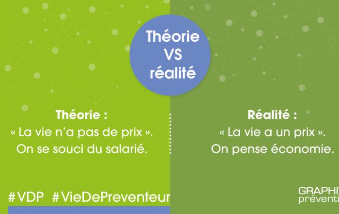 """Théorie VS Réalité - Théorie : """"La vie n'a pas de prix"""" on se souci du salarié. Réalité : """"la vie a un prix"""". On pense économie"""