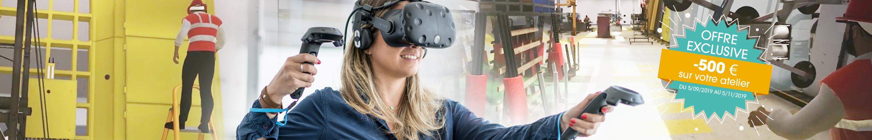 promotion du 5 septembre au 5 novembre sur tous les ateliers de réalité virtuelle